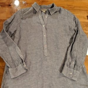 Lucky Brand Ashley linen cotton button down shirt